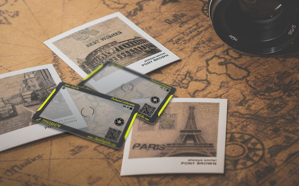 Transparent Business Card Design for photographer
