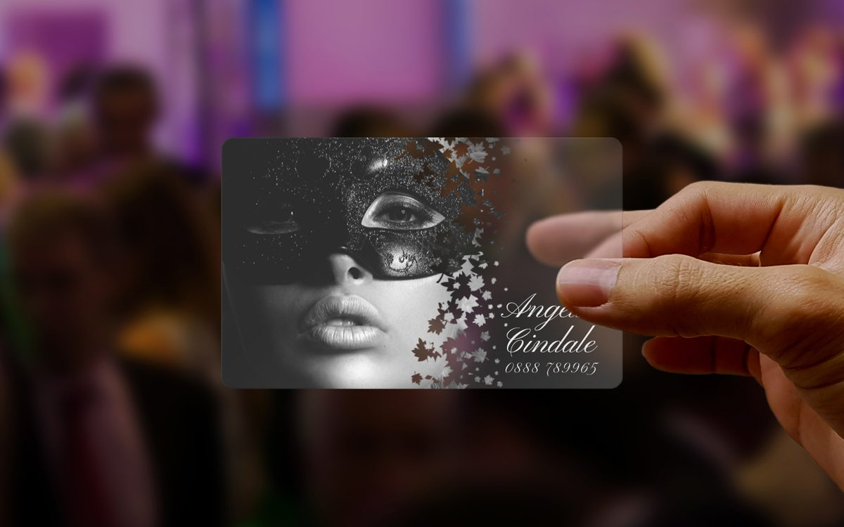 Fashion Model Transparent Business Card