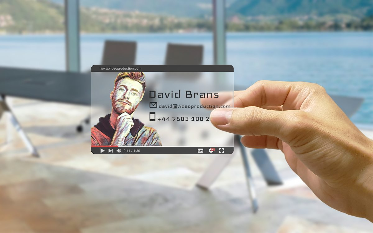 Video Producer Transparent Business Card Design